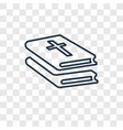 bible concept linear icon isolated on transparent vector image
