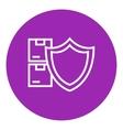 Cargo insurance line icon vector image