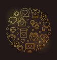 charity and donation round outline golden vector image vector image