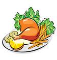 chicken leg vector image vector image