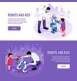 children robotics horizontal banners vector image vector image