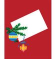 Christmas blank card vector image vector image