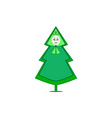 christmas tree isolated vector image vector image