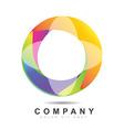 Circle logo icon vector image vector image