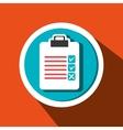 clipboard check list icon vector image