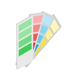 Color guide icon isometric 3d style vector image vector image