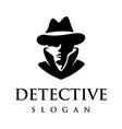 detective logo design vector image