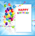 festive happy birthday card template vector image vector image