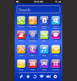fictional smartphone screen vector image vector image