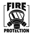 fire protection logo simple style vector image vector image