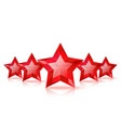 Five red stars vector image vector image