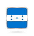 flag of honduras metallic gray square button vector image vector image