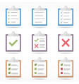 Flat Clipboard Icons vector image