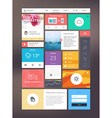 Flat ui kit for responsive web design vector image