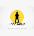 freedom soldier logo vector image