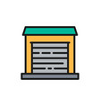 garage for cars temporary storage flat color line vector image vector image