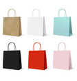gift paper colorful bags set vector image