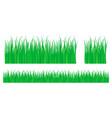 grass texture green set pattern gradient vector image vector image