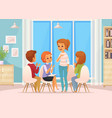 group therapy composition vector image vector image