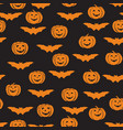 halloween seamless pattern holiday ornamental vector image vector image