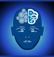 head brain gears process of thinking human vector image vector image