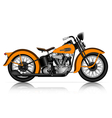 highly detailed classic motorcycle vector image vector image
