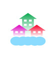 homes with cloud-Logo for construction vector image vector image