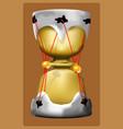 hourglass drum vector image
