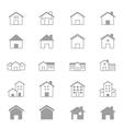 House and Home Set Of Building Icons Line vector image vector image