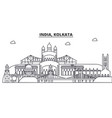 india kolkata architecture line skyline vector image vector image