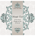Invitation card with damask ornaments vector image vector image