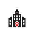 location - web icon on white background vector image vector image