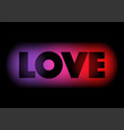 love text on colourful background vector image