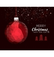 Merry christmas happy new year red ornament ball vector image vector image