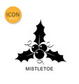 mistletoe icon isolated flat style vector image