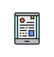 mobile certificate phone diploma e-learning flat vector image