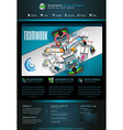 Modern website template with flat style vector image vector image
