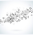 music with falling notes on white vector image vector image