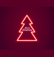 neon merry christmas and happy new year vector image vector image