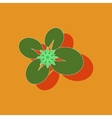 paper sticker on background of water lily vector image