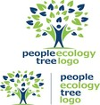 people ecology tree logo 7 vector image vector image