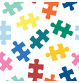puzzle pieces seamless pattern repeating vector image vector image