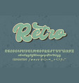 retro script hand writing editable text effect vector image