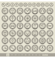 Retro Vintage style Icon collection vector image vector image