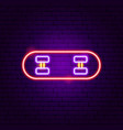 skateboard neon sign vector image
