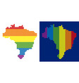 spectrum pixel dotted brazil map vector image