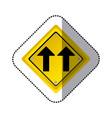 sticker yellow diamond shape frame same direction vector image vector image