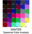 stock color guide with color names vector image