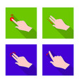 touchscreen and hand icon vector image
