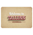 welcome to tallinn vector image